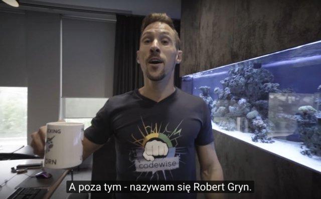 Tworząc vlog Robert Gryn wszedł na nowy poziom samouwielbienia