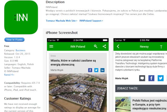Aplikacja mobilna INNPoland już dostępna