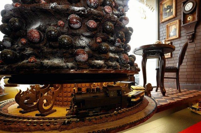 Czekoladowy pokój w muzeum fabryki E.Wedel