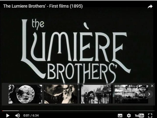 Pierwsze filmy Lumière Brothers