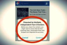 Facebook już oznacza treści, co do których prawdziwości ma wątpliwość.