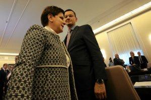 Premier Beata Szydło i minister rozwoju Mateusz Morawiecki.