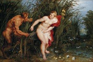 Obraz Pan i Syrinx Rubensa