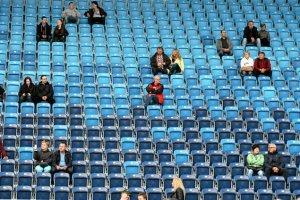 Stadion w Lublinie świeci pustkami.