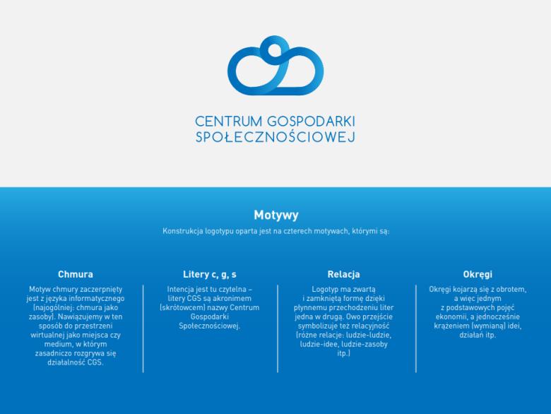 Motywy identyfikacji wizualnej Centrum Gospodarki Społecznościowej