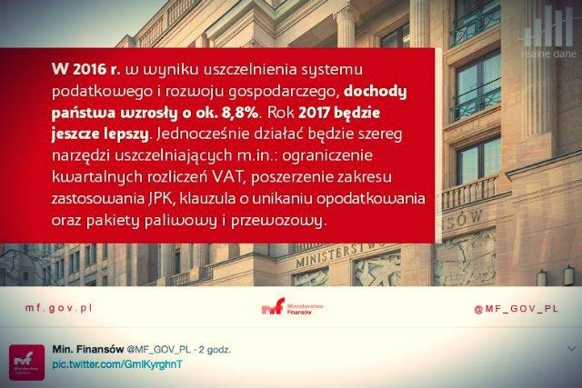 Ministerstwo Finansów pochwaliło sięna Twitterze sukcesami w ściąganiu VAT.