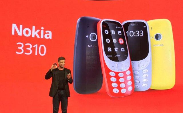 Prezentacja nowej Nokii 3310 podczas World Mobile Congress 2017 w Barcelonie.