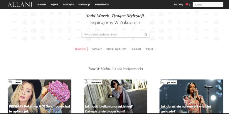 Strona główna portalu Allani.pl