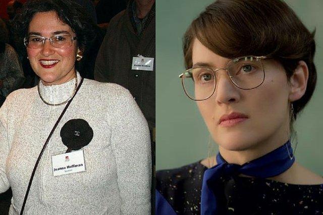 Joanna Hoffman, była współpracowniczka Steve'a Jobsa, i Kate Winslet, która odtwarza jej postać w filmie biograficznym o założycielu Apple