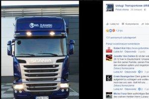 Zrzut ze strony firmy transoprtowej, której ciężarówkę porwano w Niemczech