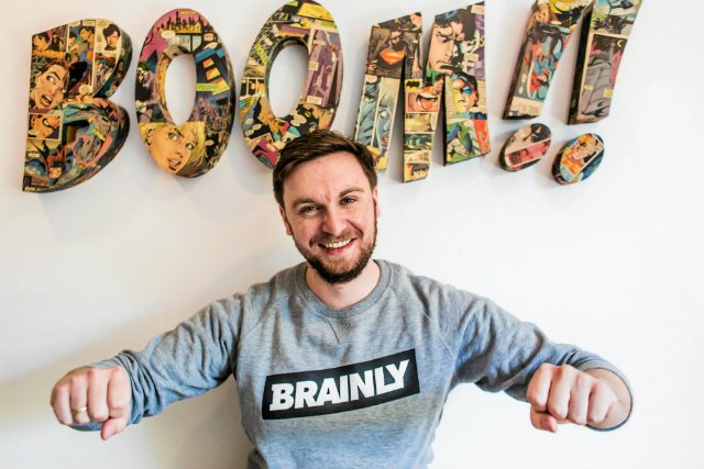 Michał Borkowski, współzałożyciel Brainly, polskiego start-upu, który zrobił wielką karierę w USA.