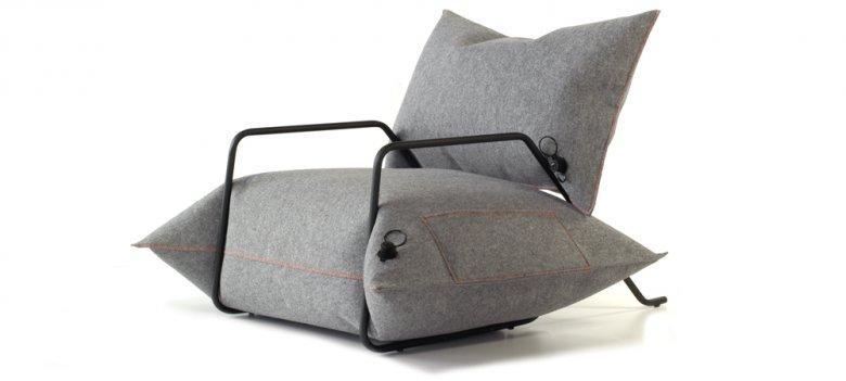 """Fotel z kolekcji """"Wełna&Powietrze"""""""