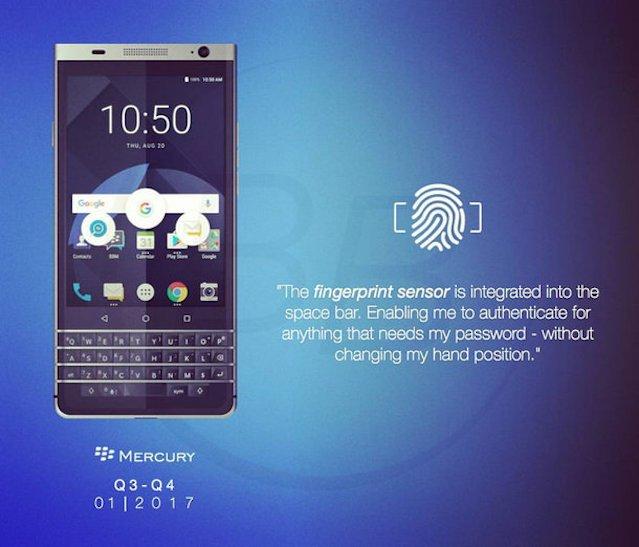 Blackberry Mercury.