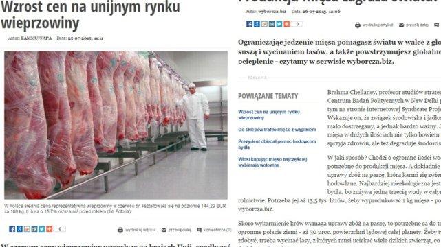 Mimo ostrzeżeń badaczy, konsumpcja mięsa w Polsce i na świecie wzrasta.