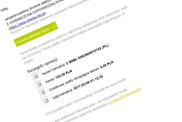 Tak wyglądają fałszywe maile - tym razem oszuści podszywają się pod serwis PayU