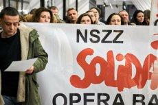Strajk w Operze Bałtyckiej.