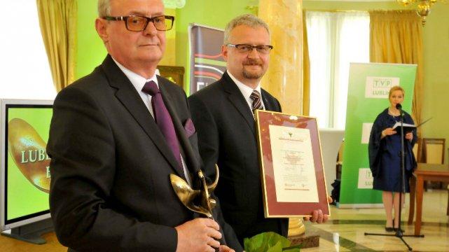 Bracia Jędrasik nagrodzeni Lubelskim Orłem Biznesu dla innowacyjnej firmy.