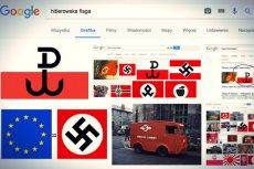 """Po wpisaniu w wyszukiwarkę Google haseł zawierających słowo """"hitlerowski"""" na ekranie pojawiają się symbole Polski Walczącej"""