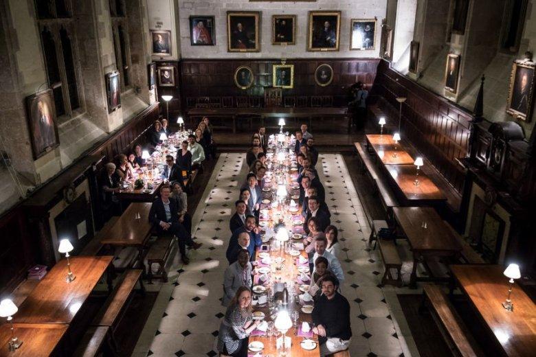 Uczestnicy programu Chivas - The Venture na Uniwersytecie Oxfordzkim